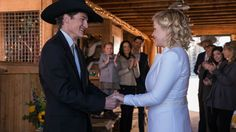 10 x 14 Great picture of Mallory and Jake to be married along with some of the Heartland  family happily watching