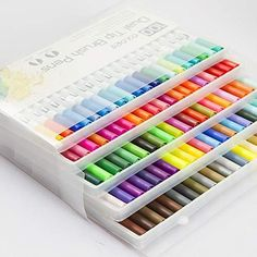 Yishaner Art Markers Dual Tips Coloring Brush Fineliner Color Pens, 100 Colors of Water Based Marker for Calligraphy Drawing Sketching Coloring Book Bullet Journal Art Projects Supplies * Learn more by visiting the image link. (This is an affiliate link) Stationary School, School Stationery, Stationary Supplies, Projekt Mc2, School Suplies, Cool School Supplies, Office Supplies, Bullet Journal Art, Pen And Watercolor