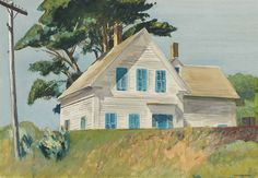 Edward Hopper (American, 1882-1967), Railroad Embankment, 1932. Gouache and watercolor on paper, 14 x 20 in.