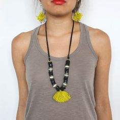 Image of Terra and Tassel Necklace