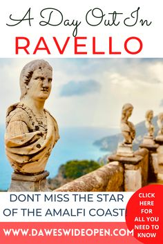 A Day in Ravello, The Tiny Shining Star Of The Amalfi Coast. RAVELLO / VILLA RUFOLO / VILLA CIMBRONE / VILLA MARIA / TERRACE OF INFINITY / WHAT TO DO IN RAVELLO / BEST TOWNS ON THE AMALFI COAST / ONE DAY GUIDE TO RAVELLO / THINGS TO DO IN RAVELLO / AMALFI COAST TRAVEL TIPS / TRAVEL GUIDE RAVELLO #Ravello #AmalfiCoast #Italy #TravelTips via @daweswideopen FAVOURITE CITIES OF THE WORLD