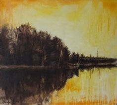 Janna Prinsloo | Autumn (2020) - available for sale | StateoftheART White Shadow Box, Shadow Box Frames, Peace Painting, Yellow Office, Office Art, State Art, New Art, Framed Art, Original Paintings