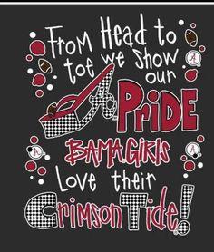 Bama girl till I die! Alabama Crimson Tide, Alabama Baby, Crimson Tide Football, Alabama Football, College Football, Roll Tide Alabama, Alabama Elephant, Auburn Football, Oklahoma Sooners