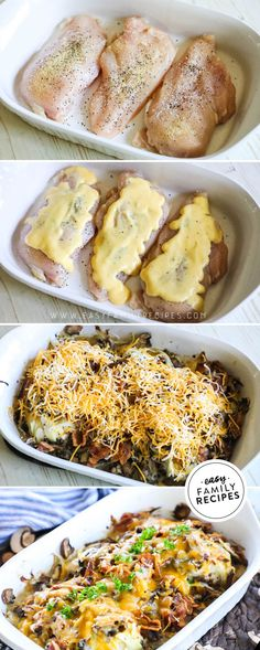 If you love OUTBACK Alice Springs Chicken you have to try this recipe! It is every bit as tasty as the restaurant but SO EASY. The perfect one dish chicken dinner idea for a busy night. You can make this with chicken breast or even change it up and use ch Easy Family Meals, Easy Meals, Dinner Ideas For Family, Easy Family Recipes, Fun Dinner Ideas, Dinner For Two, Alice Springs Chicken Outback, Baked Chicken Breast, Chicken Breasts