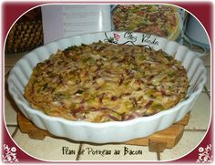 Flan de poireau au bacon pour 4 pers Healthy Fats, Healthy Choices, Chez Vanda, Bacon, Snack Recipes, Snacks, Extreme Diet, Vegetable Dishes, Fruits And Vegetables
