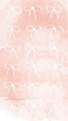 LaurenConrad.com Pink Bow iPhone Background