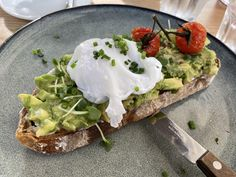 Breakfast Around The World, Cress, Coriander Seeds, Roasted Tomatoes, Poached Eggs, Avocado Toast, Bacon, Dishes, Food