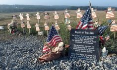 A temporary memorial for the 40 people killed when United Flight 93 crashed in a Pennsylvania field on Sept. 11, 2001: The heroics of the men and women on board prevented a potential attack on Washington, D.C.
