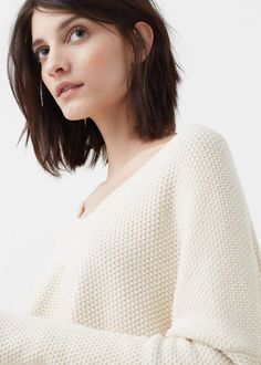 Textured cotton-blend sweater - Cardigans and sweaters for Women | MANGO USA