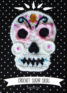 Crochet Sugar Skull - Free Pattern by Persia Lou