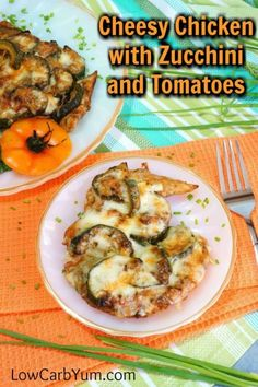 Baked chicken and zucchini casserole cover