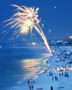 #Beach-fireworks, Mexico Beach, FL  #Travel Florida USA multicityworldtravel.com We cover the world over 220 countries, 26 languages and 120 currencies Hotel and Flight deals.guarantee the best price