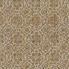 Discover a classy look with this stitched medallion motif. Ivory and golden tan brown come together to create a unique design with a textured matte finish. Use as an upholstery fabric or in any home decor project.