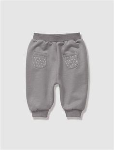 Pantalon molleton bébé fille nouveau né GRIS - vertbaudet enfant