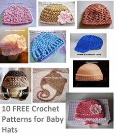 free crochet patterns-10- free crochet patterns baby hats