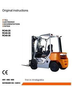 Still Diesel Forklift Truck 4053 Operating Instructions Bobcat Skid Steer, Diesel, Trucks, Diesel Fuel, Truck