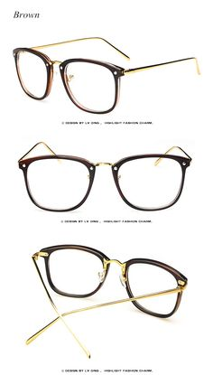 53b5d6c5fdf 2017 Brand Vintage Optics Eyeglasses Frame Women Fresh Spectacle Frame  Women Prescription Eyewear Trend Men Retro Clear Glasses