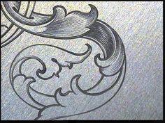 Sam Alfano's Tips & Tricks for Hand Engravers - Leaf Script. D.