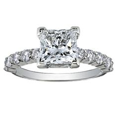 18K White Gold Luxe Shared Prong Diamond Ring (over 1/2 ct.tw.) from Brilliant Earth