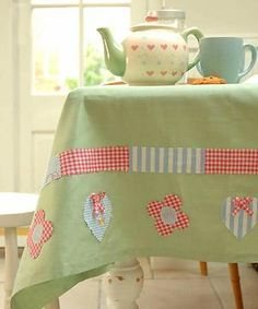 Bostik Sew Simple tablecloth project - Decorate a tablecloth - Home makes - allaboutyou.com