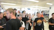 Exclusive Video Brendon Urie causes chaos in Sydney airport