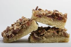 CHARLESTON CHERRY BARS Makes 36 small or 18 larger bars 2 cups flour 2 teaspoons baking powder ¼ teaspoon salt 1 stick unsalted butter, Holiday Cookie Recipes, Holiday Cookies, Cherry Bars, Tea Cookies, Unsalted Butter, Dessert Bars, Baking Pans, Cookie Bars, Cheesesteak