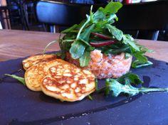 tartare au saumon restaurant Chez Lionel