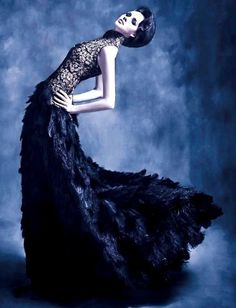 (MUST DO!  Does anyone have an outfit close to this?)  Givenchy Haute Couture Editorial Feathers - Inspiration by Color