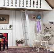 Inspired by the picturesque cottages of the Cotswolds, the Piccadilly Playhouse boasts simulated clapboard siding, crisscross trim, and a Dutch door. Outside Playhouse, Playhouse Kits, Indoor Playhouse, Build A Playhouse, Wooden Playhouse, Plank Flooring, Hardwood Floors, Luxury Playhouses, Clapboard Siding