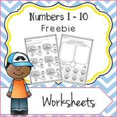 Numbers 1 - 10 Worksheets Freebie: Number Bond and Cupcake Sort!These Numbers 1 - 10 worksheets will make learning about numbers fun and engaging, and can be used all year round! These worksheets are a preview of my full Numbers 1 - 10 Worksheets pack.