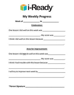 IReady Weekly Reflection