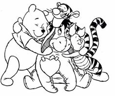 Winnie the pooh coloring pages pooh and friends ~ Coloring