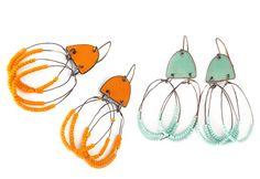 Maine Handcrafted Jewelry Gifts, Enamel Earrings, Rings, Bracelets and Pendants by Yikes Studio   Enameled Earrings