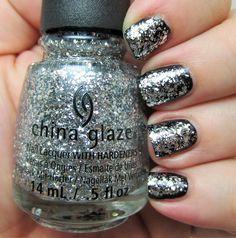 China Glaze - Silver of Sorts Silver glitter polish