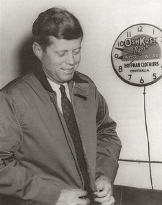 U.S. President John F. Kennedy visited the OshKosh factory in OshKosh, Wisconsin during his presidential cross-country tour in 1963.