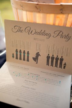 Meet the #Wedding Party! Fun addition to a ceremony program {Rachel Smith Photography}