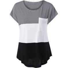 Color Block Asymmetrical T Shirt (18 BAM) ❤ liked on Polyvore featuring tops, t-shirts, color block tee, asymmetric top, asymmetric t shirt, block top and color-block tee
