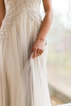 Amazing wedding dress. Detail
