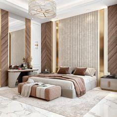 Modern Classic Bedroom, Modern Luxury Bedroom, Master Bedroom Interior, Luxury Bedroom Design, Modern Master Bedroom, Room Design Bedroom, Bedroom Furniture Design, Luxurious Bedrooms, Classic Bedroom Furniture