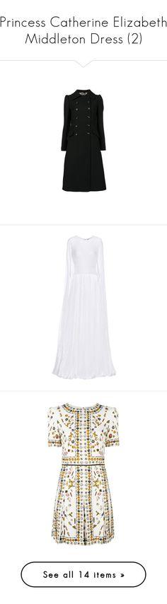 """Princess Catherine Elizabeth Middleton Dress (2)"" by taught-to-fly19 on Polyvore featuring dresses, short-sleeve dresses, silk dress, short sleeve dress, pattern dress, white dresses, erdem dress, blue color dress, blue dress e erdem"