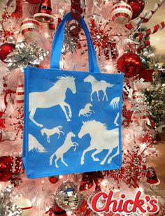 The Love Horses - Love Chick's Reusable Tote Bag! Use it to wrap your Christmas presents, or take it along on your shopping trips.