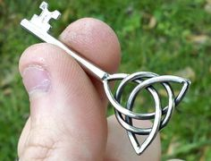Triquetra Key Celtic Knot Pendant STAINLESS $35 #celtic #tattoos