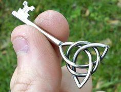 Triquetra Key Celtic Knot Pendant STAINLESS $35
