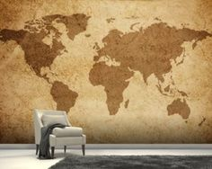 Ancient world map sketch wallpaper mural house project ancient world map sketch wallpaper mural house project pinterest wallpaper murals wall murals and wallpaper gumiabroncs Gallery