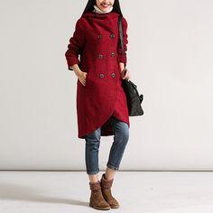 Pink cashmere wool winter coat : Manteau, Blouson, veste par ...