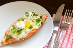 3. Twice Baked Sweet Potato and Egg