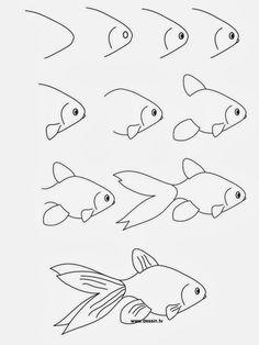 Óvodás Gyerekek: Rajzoljunk halat!