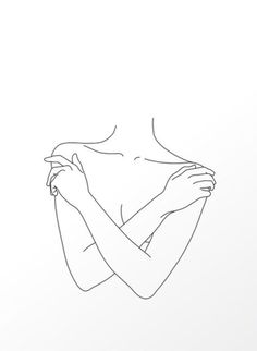 Dessins Minimalistes -- Dessins Minimalistes - Motius by Erick Ortiz - A reminder that emotions are often a temporary state of mind, don't let them get the best of you. Sketch 67 LINE ART PRINT minimalist line art woman body lines Minimalist Drawing, Minimalist Art, Outline Art, Line Art Tattoos, Arte Sketchbook, Art Drawings Sketches, Abstract Lines, Simple Art, Line Drawing