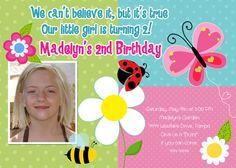 Garden Girl Birthday Invitation digital by ShutterbugSentiments, $18.00