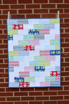 Baby Color Me Retro Braid Quilt - Great pattern and quick to piece together.